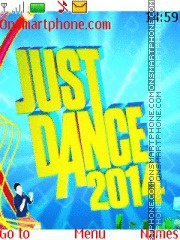 Just Dance theme screenshot