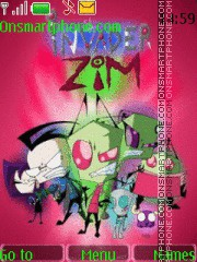 Invader Zim theme screenshot