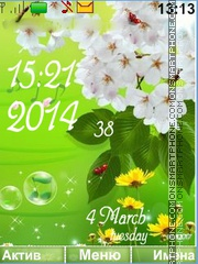 Colors of spring theme screenshot