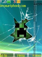 Скриншот темы Minecraft Creeper