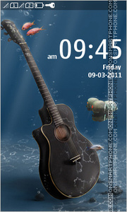 Under Water Guitar theme screenshot