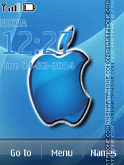 Blue Apple - MAC OS X Mavericks theme screenshot