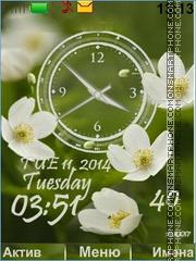 Flower white Theme-Screenshot