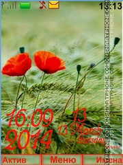 Poppies red spikelets theme screenshot