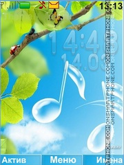 Music of spring theme screenshot