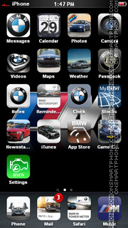 BMW M 01 theme screenshot