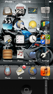 Suzuki GSX-R theme screenshot