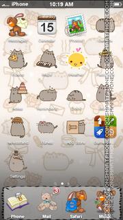Capture d'écran Simons Cat thème