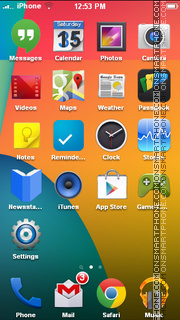 Android 4.4 Kit Kat tema screenshot