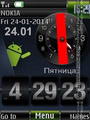 Android Apps Menu Widget es el tema de pantalla