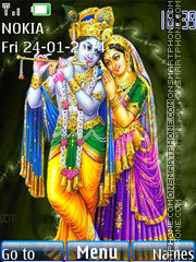Radha Krishna with Ringtone tema screenshot