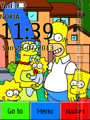The Simpsons 16 theme screenshot