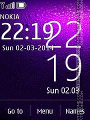 Nokia X Clock theme screenshot