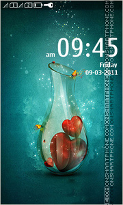 Hearts In Bottle theme screenshot