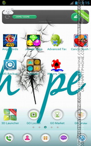 Hope - Saying Quote es el tema de pantalla