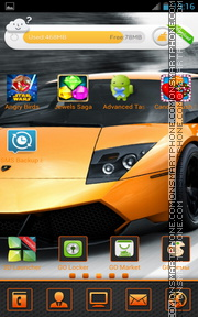 Lamborghini Murcielago 03 theme screenshot