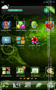 Green Nature Magic theme screenshot