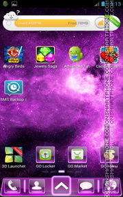 Purple Fusion tema screenshot