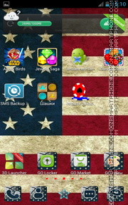 Capture d'écran USA Flag for Android thème