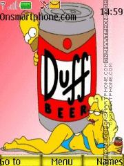 Capture d'écran The Simpson thème
