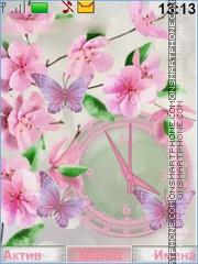 Скриншот темы Flower Butterflies