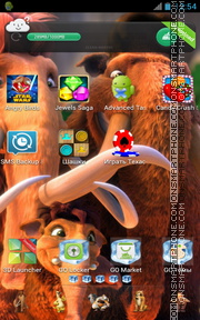 Ice Age: Dawn of the Dinosaurs theme screenshot