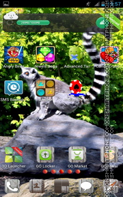 Animals in Zoo tema screenshot
