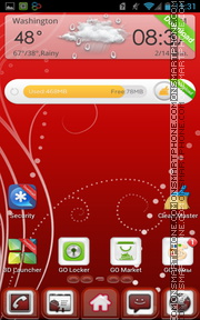 Red Abstract White theme screenshot