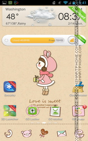 Love for Sweet tema screenshot