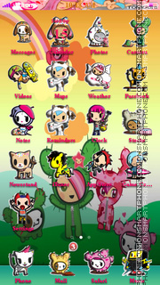 Tokidoki Cactus theme screenshot