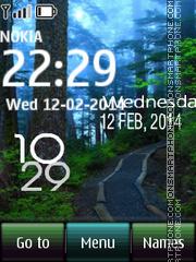 Forest Digital Clock theme screenshot