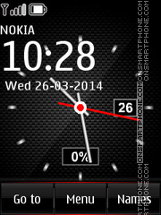 Carbon Red for Nokia phones theme screenshot