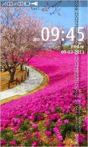 Real Spring Field Theme for Nokia Asha theme screenshot