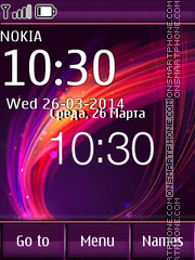 Abstract Wave for Nokia theme screenshot