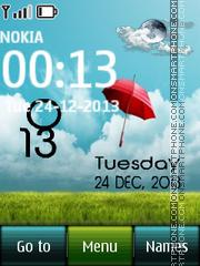 Umbrella Live Clock theme screenshot