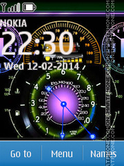 Color Clock Screen theme screenshot