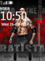 Batista Theme With Ringtone theme screenshot