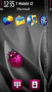 Pink Ladybug Theme-Screenshot