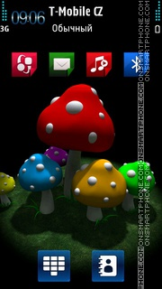 Mushroom HD Nokia theme tema screenshot