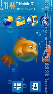 Aquameeting In Aquarium tema screenshot