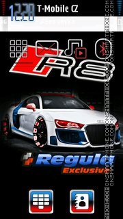 Audi R8 35 theme screenshot