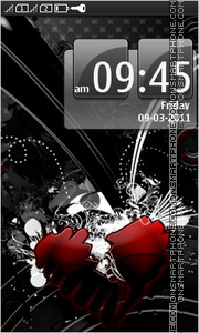Emo Heart - Abstract tema screenshot