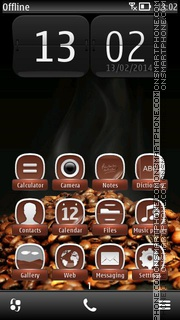Morning Coffee 01 tema screenshot
