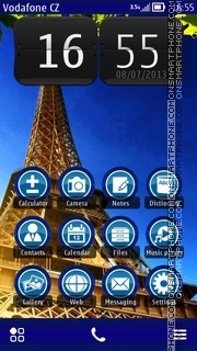 Paris - France theme screenshot
