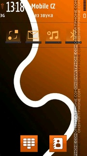 Orange Abstract 02 theme screenshot