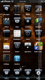 Lion HD for iPhone 5 theme screenshot