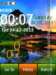 Capture d'écran Japanese Garden Clock thème