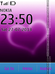 Purple Heart 02 tema screenshot