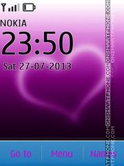 Скриншот темы Purple Heart 02