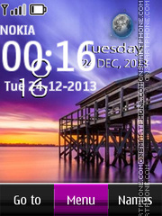 Pier Live Clock theme screenshot